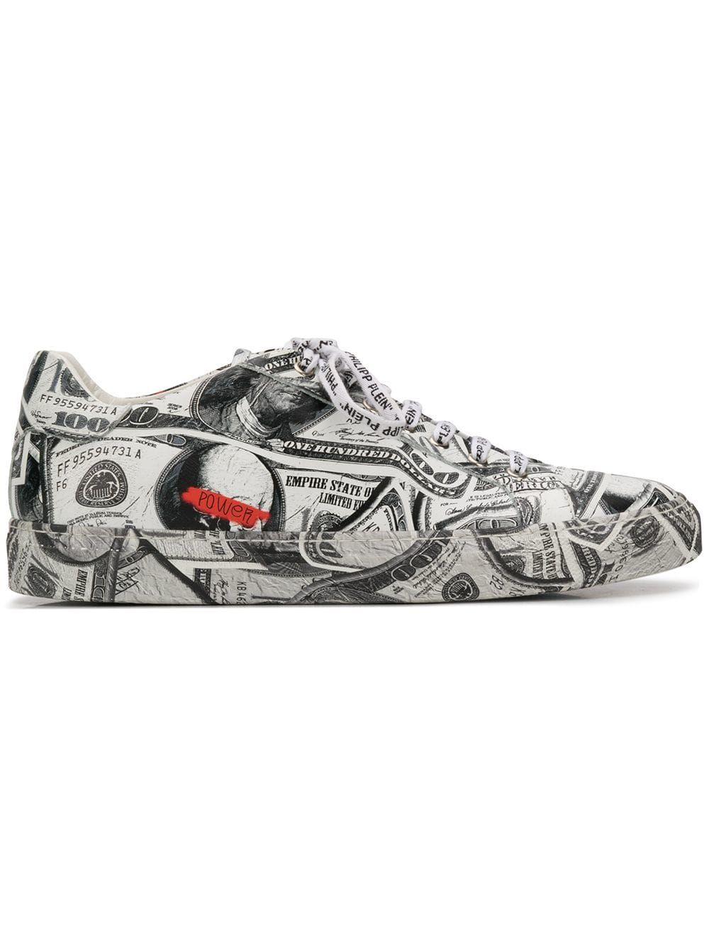 56fda1b2337e3 PHILIPP PLEIN PHILIPP PLEIN DOLLAR LOW-TOP SNEAKERS - WHITE.  philippplein   shoes
