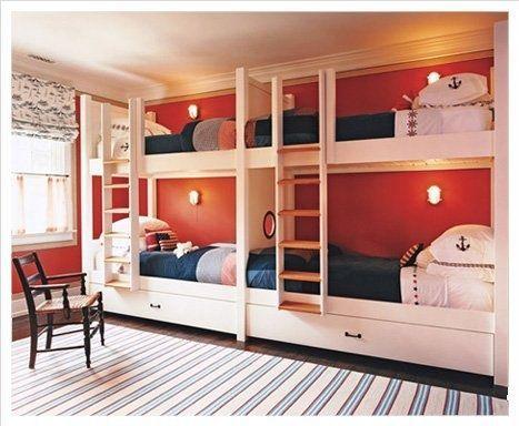 Four Kids One Room Bunk Beds Decoholic Bunk Beds Built In Built In Bunks Bunk Beds With Stairs