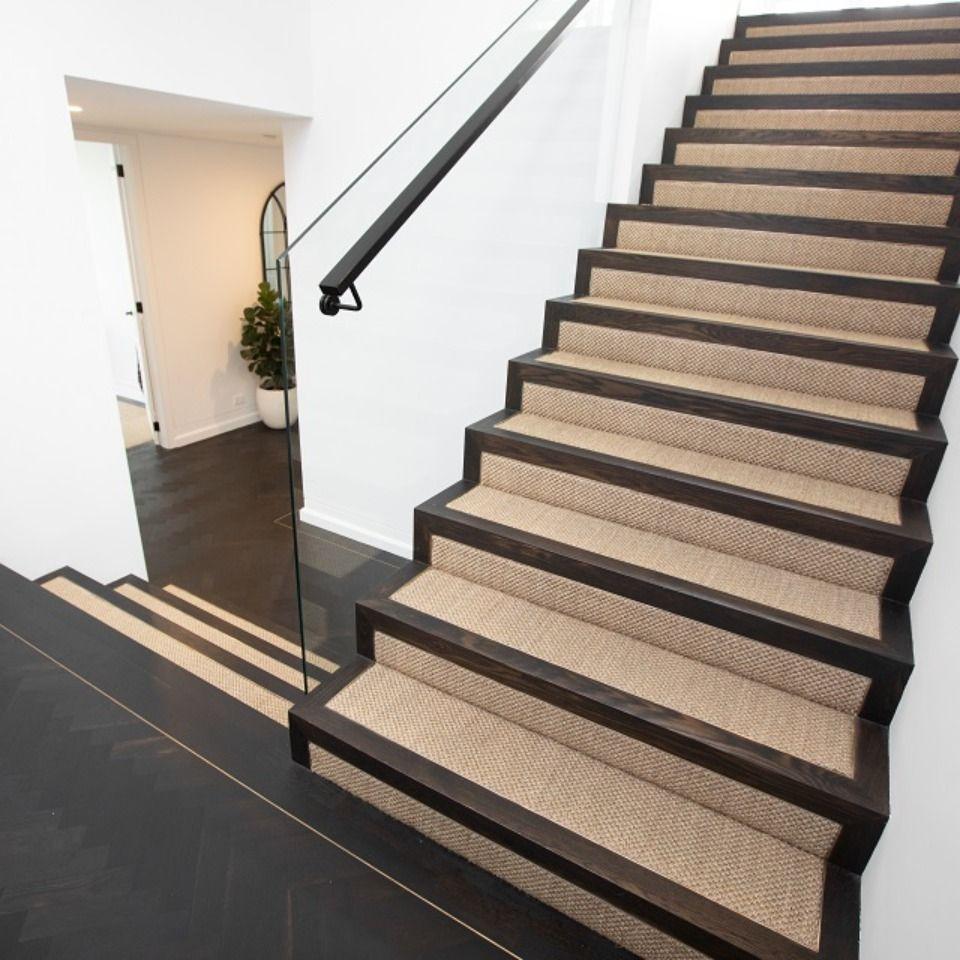 Custom Built Waterfront Home In Sydney Featuring Solid Site   American Oak Stair Treads   Stair Case   Stair Railing   Hardwood Floors   Beech American   Walnut