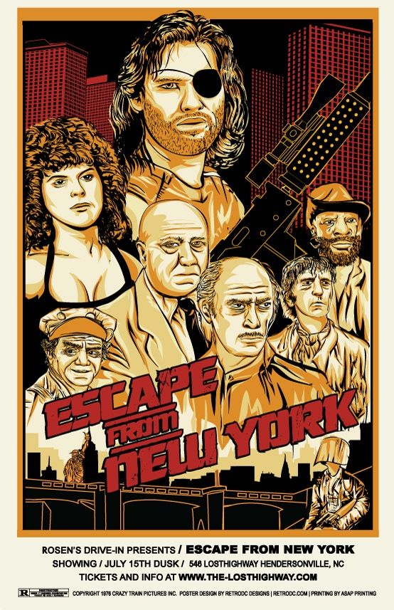 Escape From New York movie poster by artist Steve Jencks