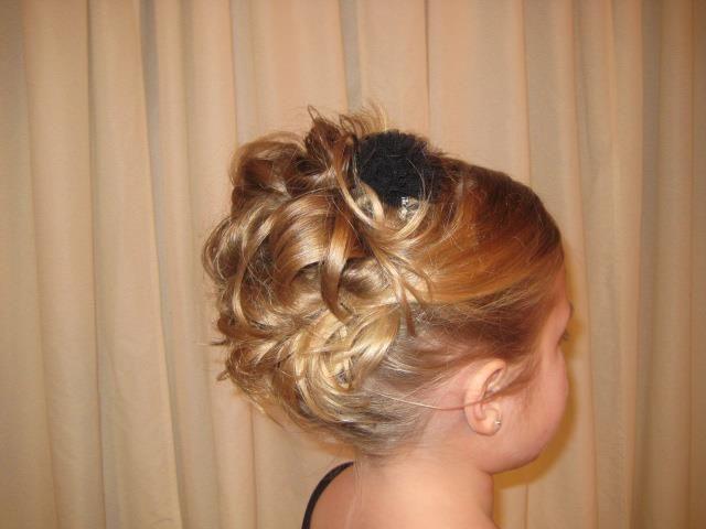in curls updo little girl