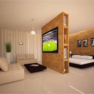 Dormitorios de estilo moderno de hhrg arquitectos