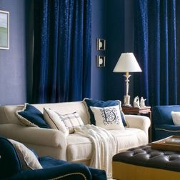 Blue D Match Walls A Contemporary Family Room By Tracy Murdock Allied Asid