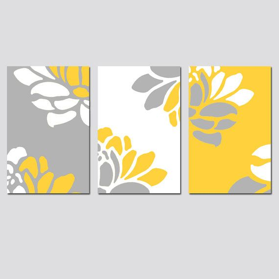 Floral Trio - Set of Three 11x17 Prints - Modern Wall Art - Choose ...