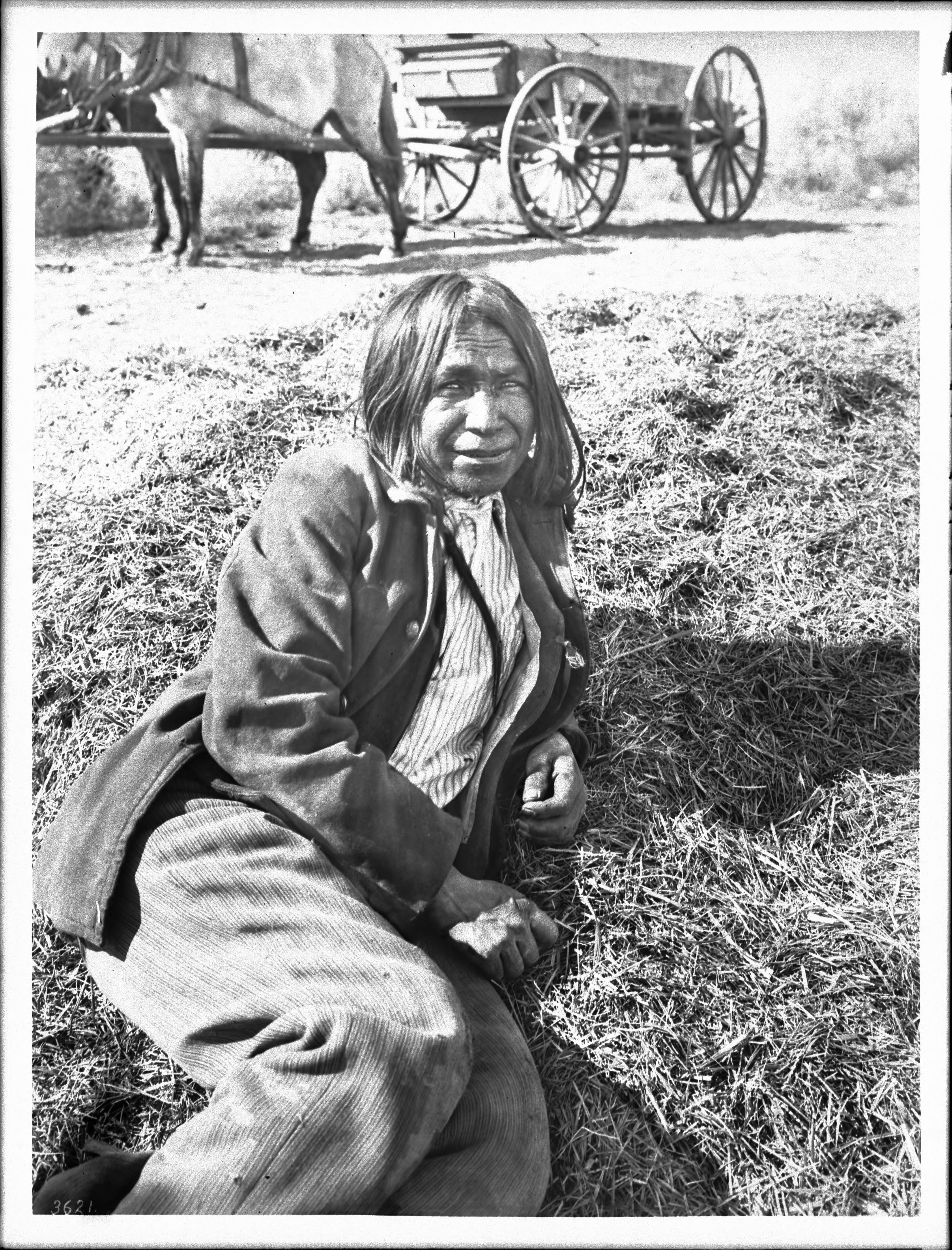 Pima Indian man, HaHitch, a farmer, Pima, Arizona