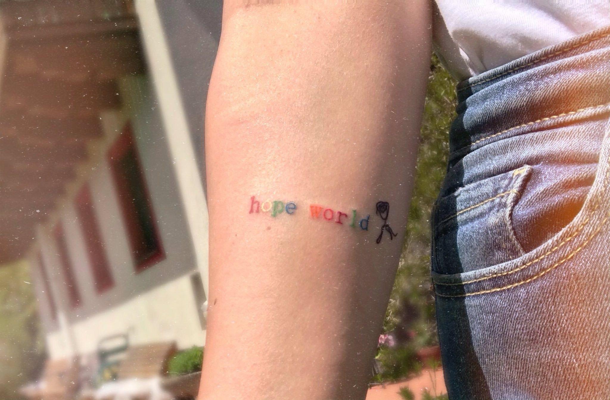 hope world hoseok jhope tattoo bts