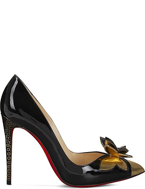 2c0044b5b3a CHRISTIAN LOUBOUTIN Maripopump 100 spec/pat/ringed dots   shoes ...