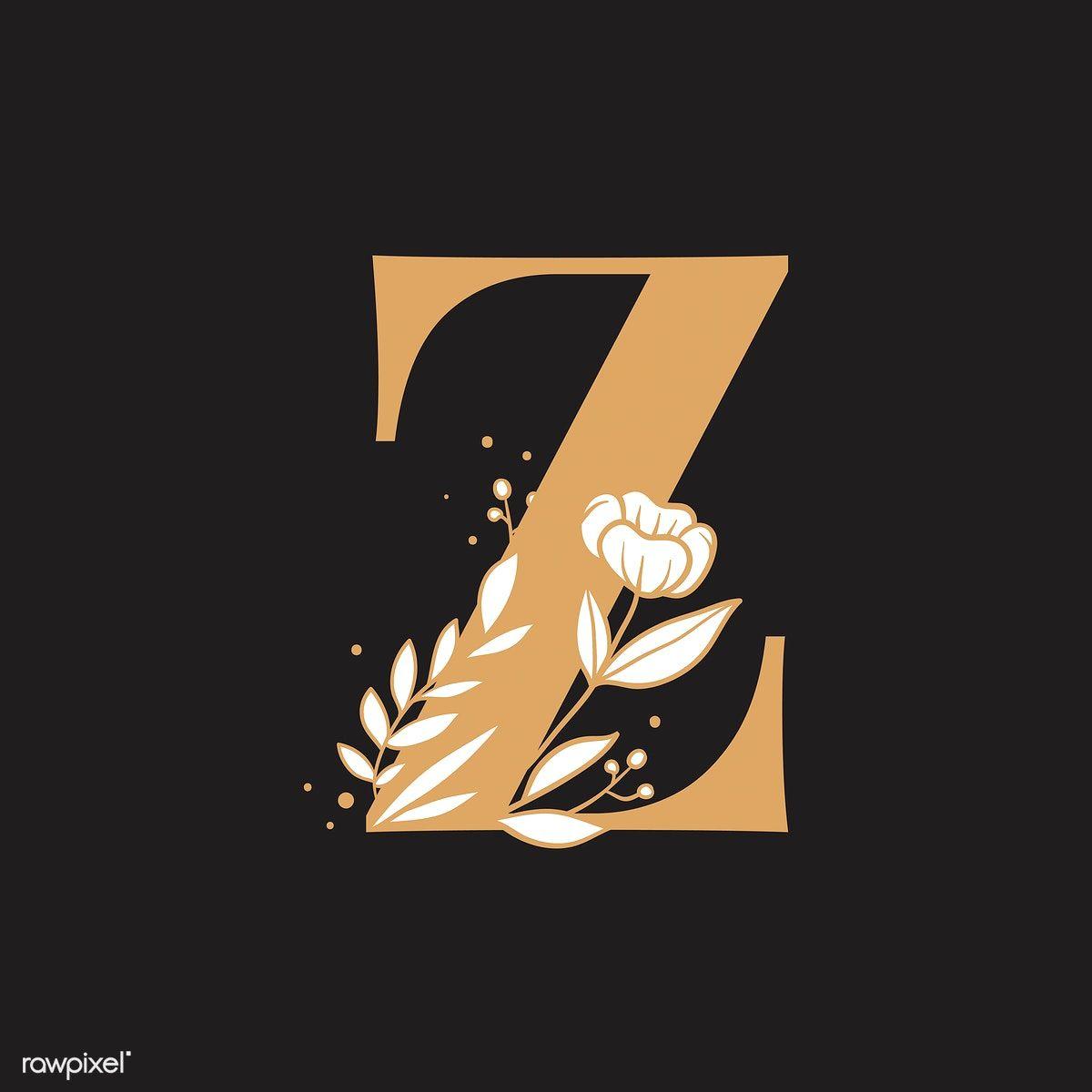 Botanical Capital Letter Z Vector Free Image By Rawpixel Com Tvzsu Vector Free Letter Z Floral Font