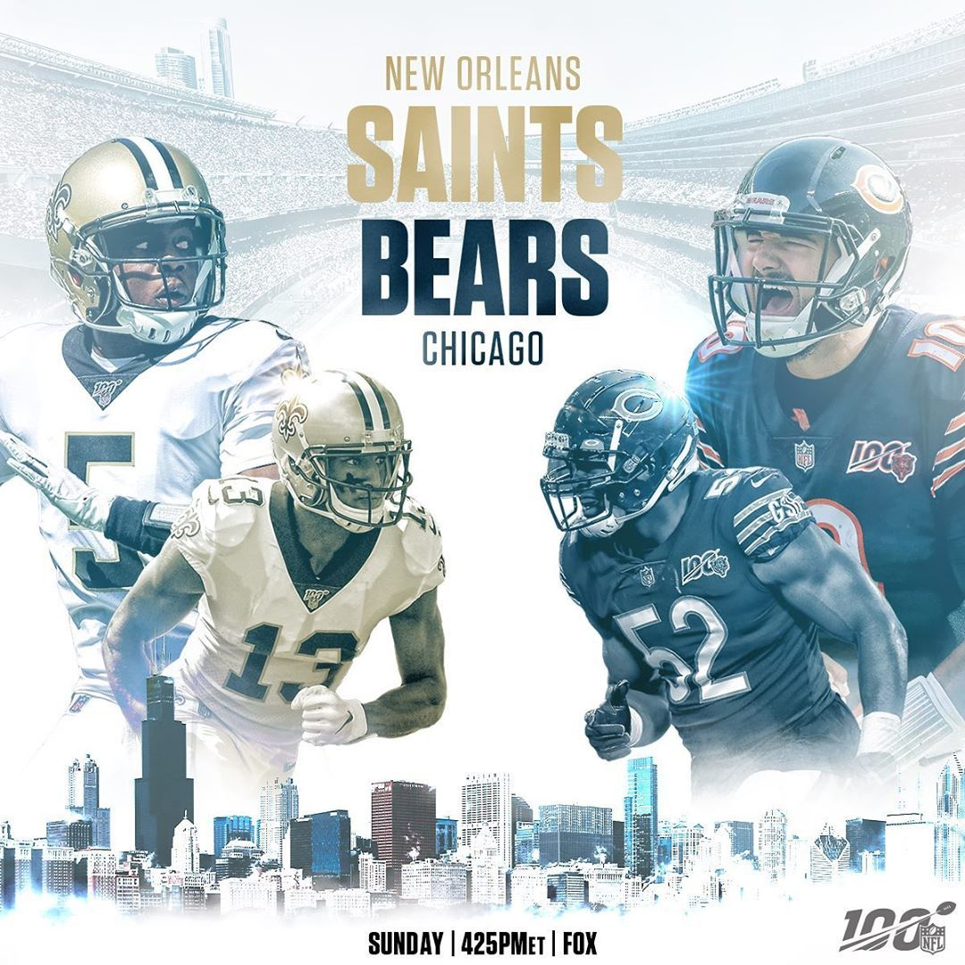 NFL The saints go marching in to Soldier Field for a