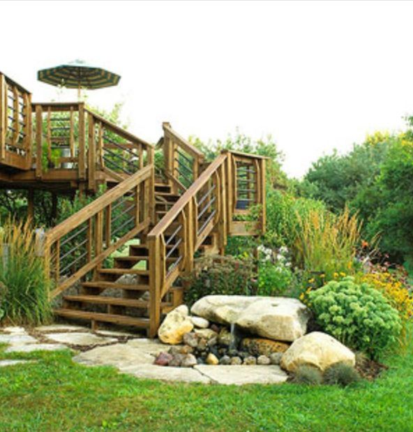 Soften A Deck With Shrubbery