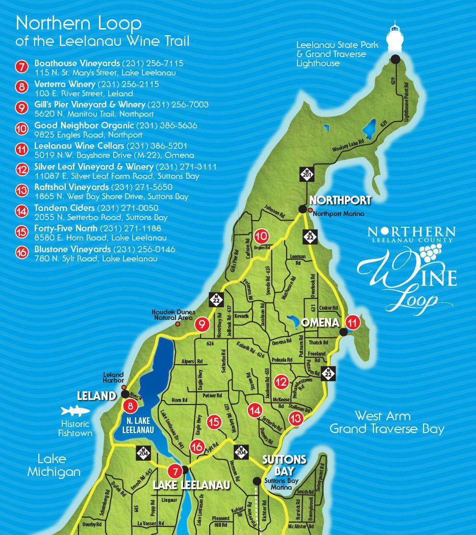 northern-loop of Leelanau County wine trail