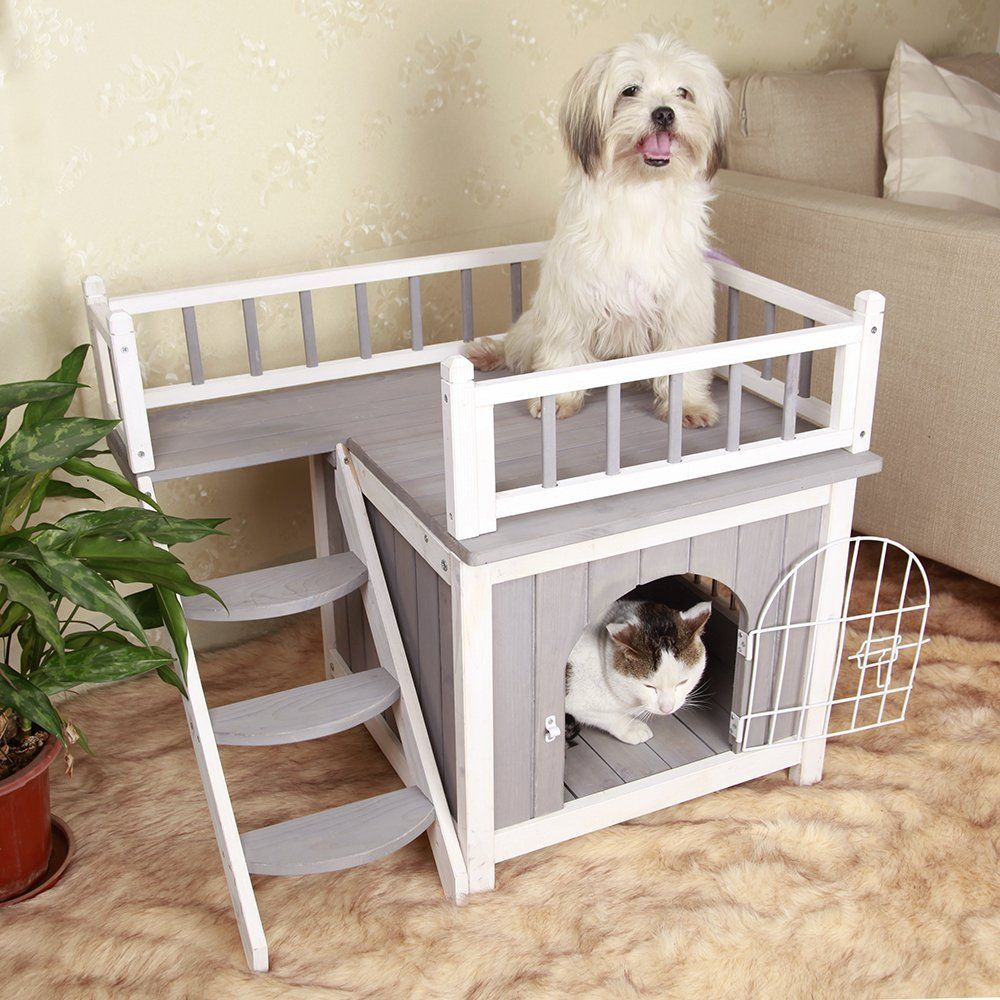 Image result for dog condo Wooden cat house, Indoor dog