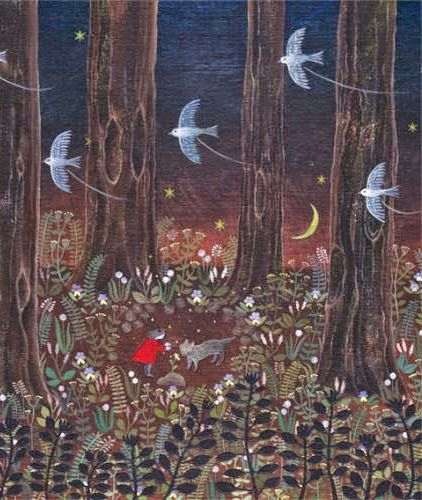Illustration Little Red Riding Hood Forest