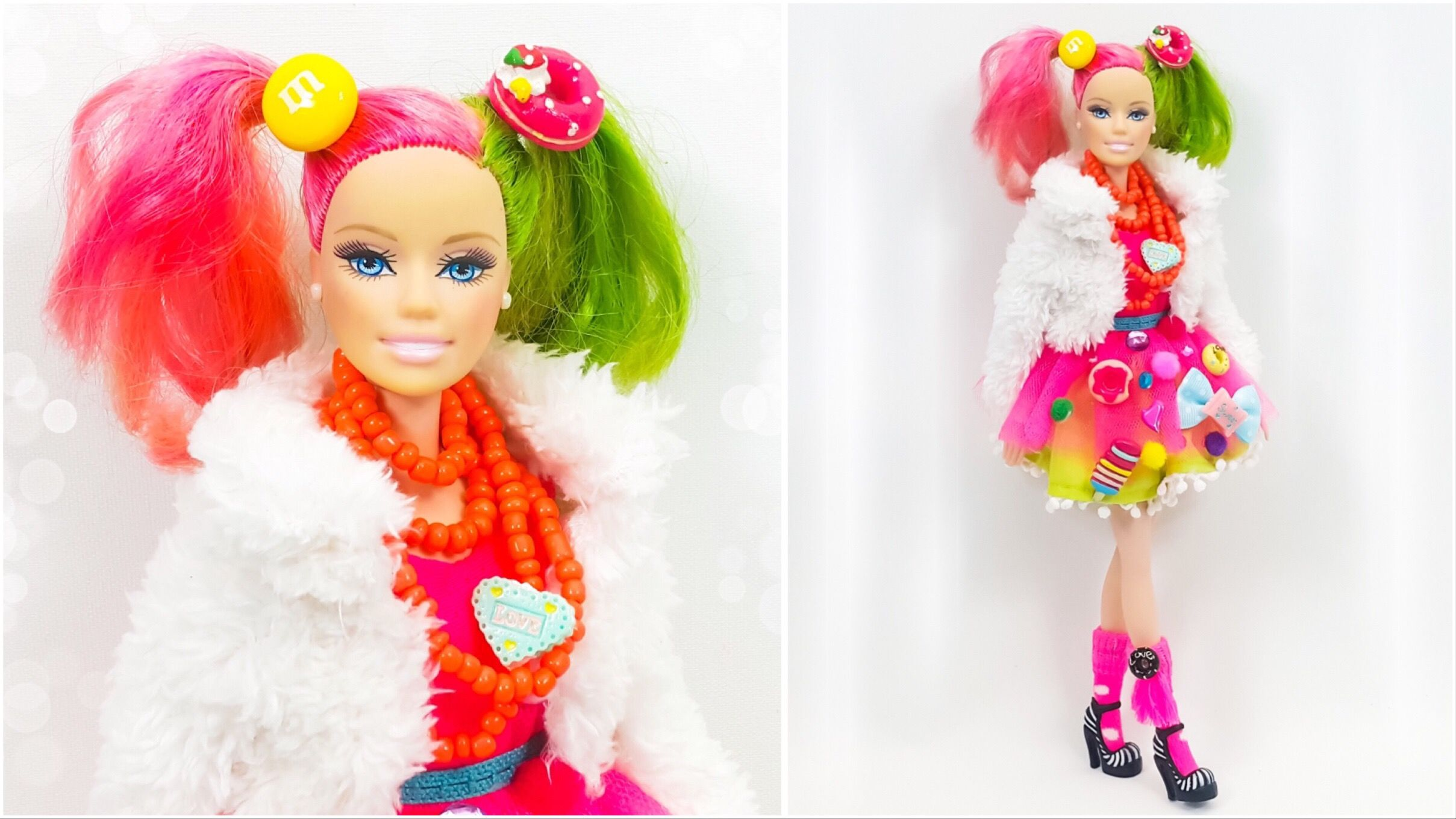 Candy Barbie Clothes Diy Sweet Doll Hairstyle Colouring 바비 バービー 服 Munecas Jogo Vetement العاب باربي Barbie Barbie Hairstyle Doll Hair
