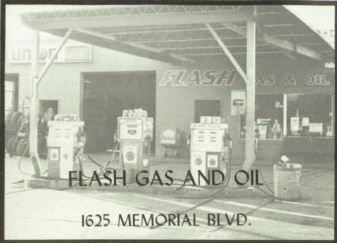 Flash Gas and Oil - 1625 Memorial Blvd. - Oakland High Yearbook Advertisement 1980