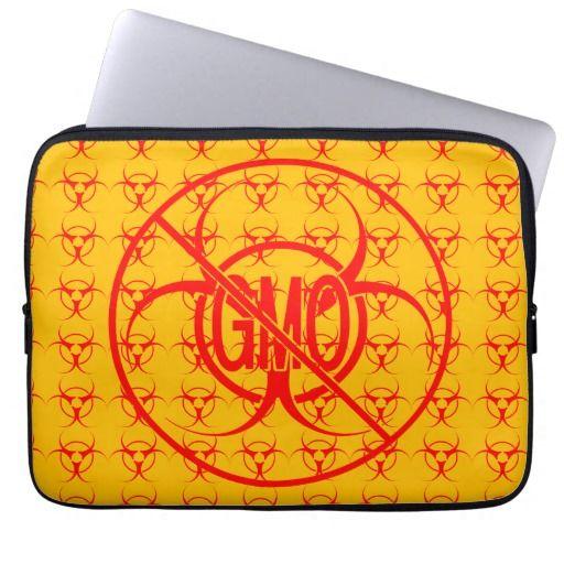 No GMO Laptop Case Biohazard GMO Laptop Sleeve