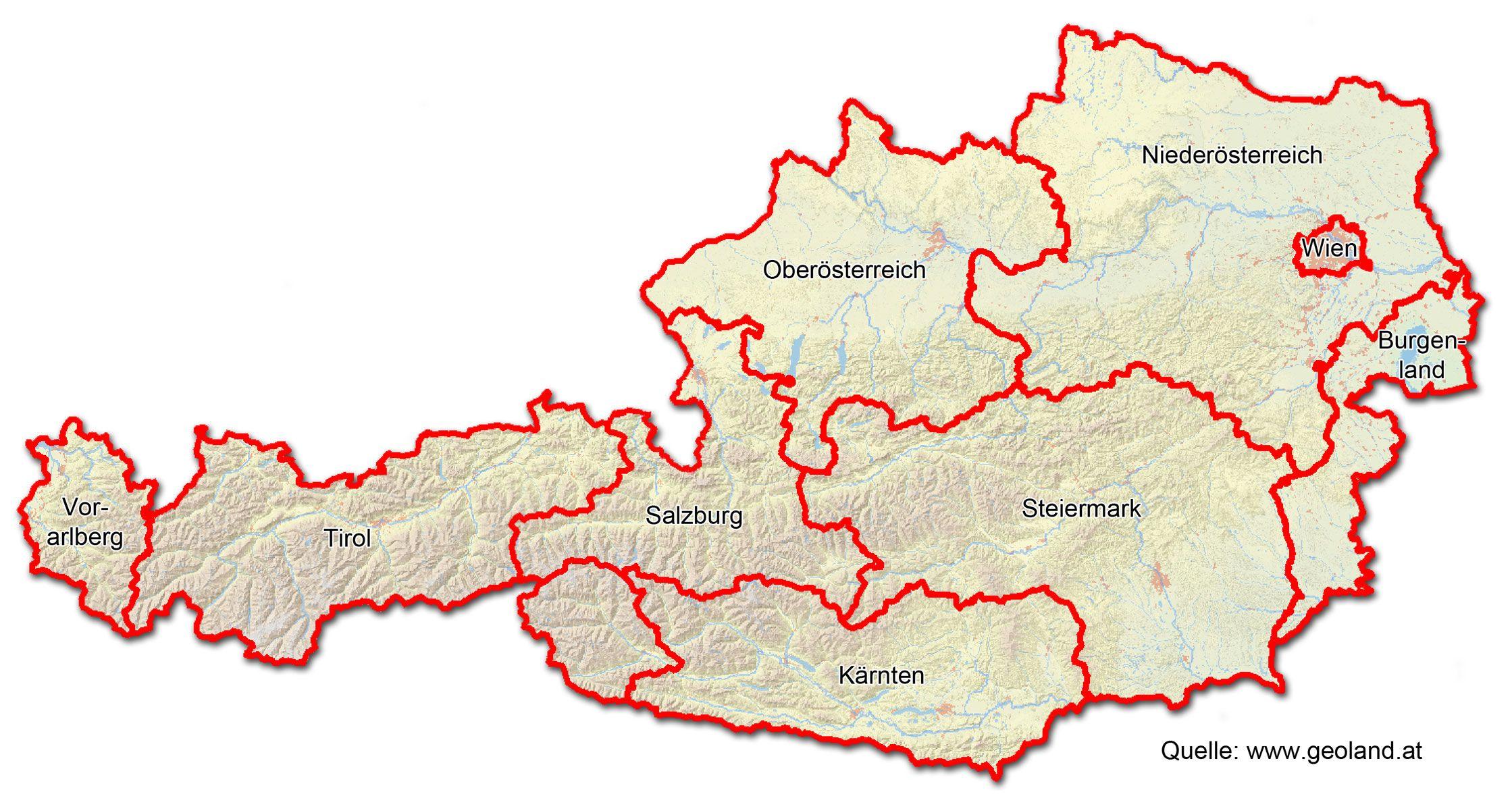 Osterreich Karte World Map Map