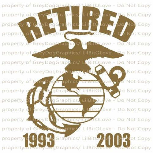 Custom Retired Marine USMC EGA Vinyl Decal With Dates Of Service - Custom vinyl decals macbook