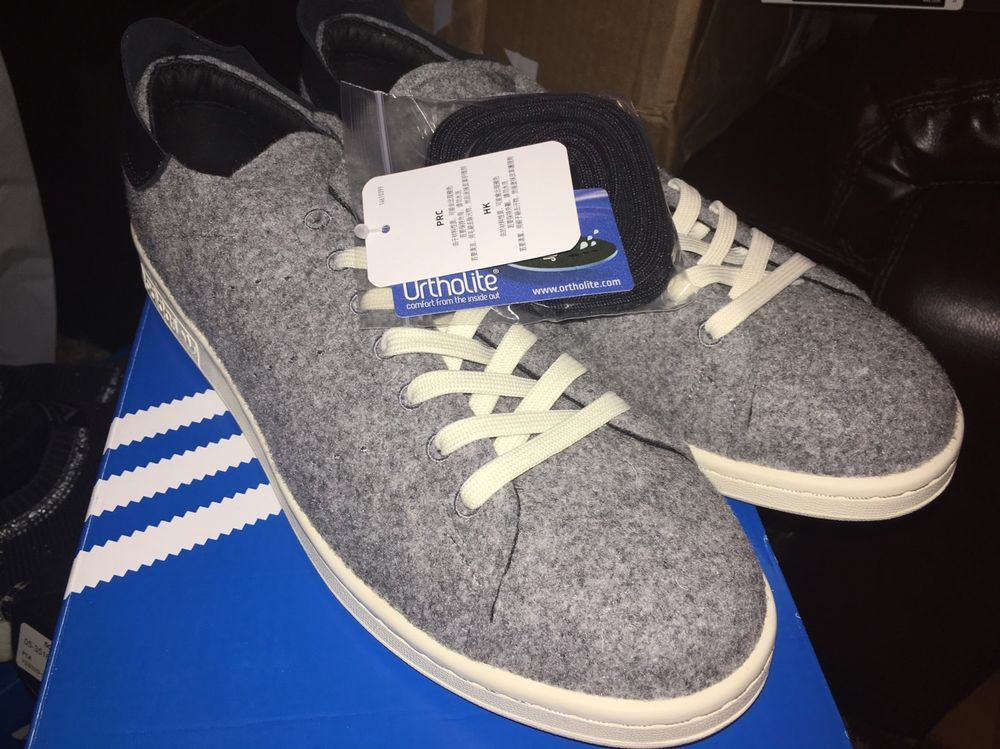 wholesale dealer fa659 31373 Adidas Stan Smith PC Wool Grey size 12 AQ8452 | eBay | Kicks 4 sale ...