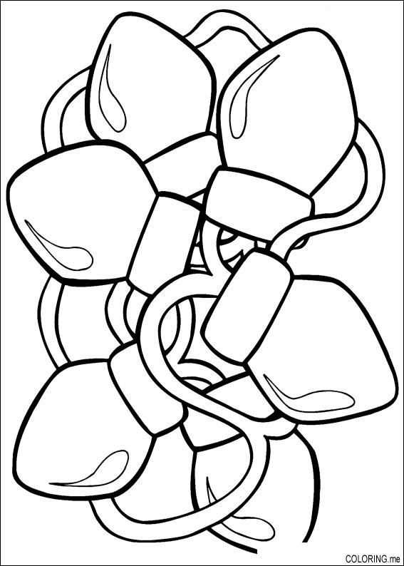 Christmas Lights Coloring Page | Christmas Tree Children's ...