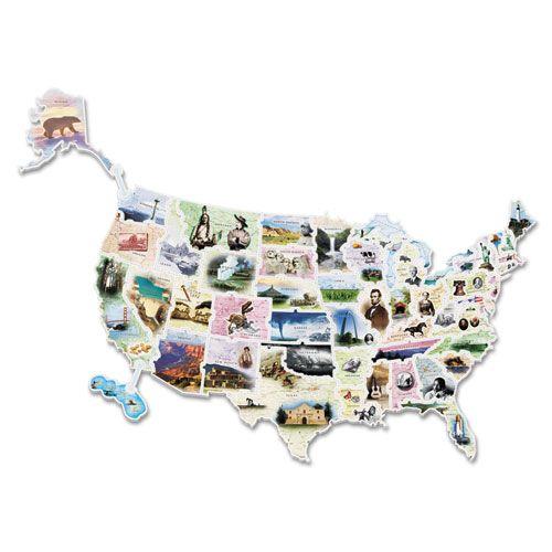 USA Photo Map Floor Puzzle