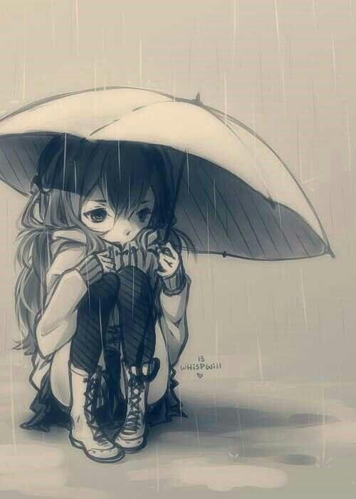 Some Days U Just Wanna Sit In The Rain Anime Chibi Manga Anime Anime