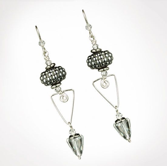 CREATE YOUR STYLE Mini Projects: Earrings Crystal Bullet