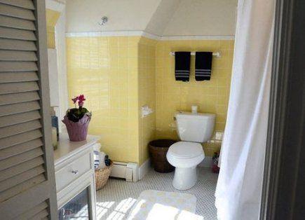 bathroom vintage yellow subway tiles 36+ ideas #bathroom