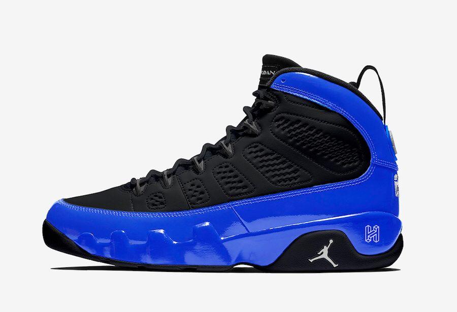jordan retro 9 black and blue buy