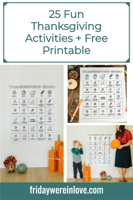 Thanksgiving Activities 25 Fun Thanksgiving Ideas With Free Printable In 2020 Thanksgiving Activities Thanksgiving Fun Fun Family Activities