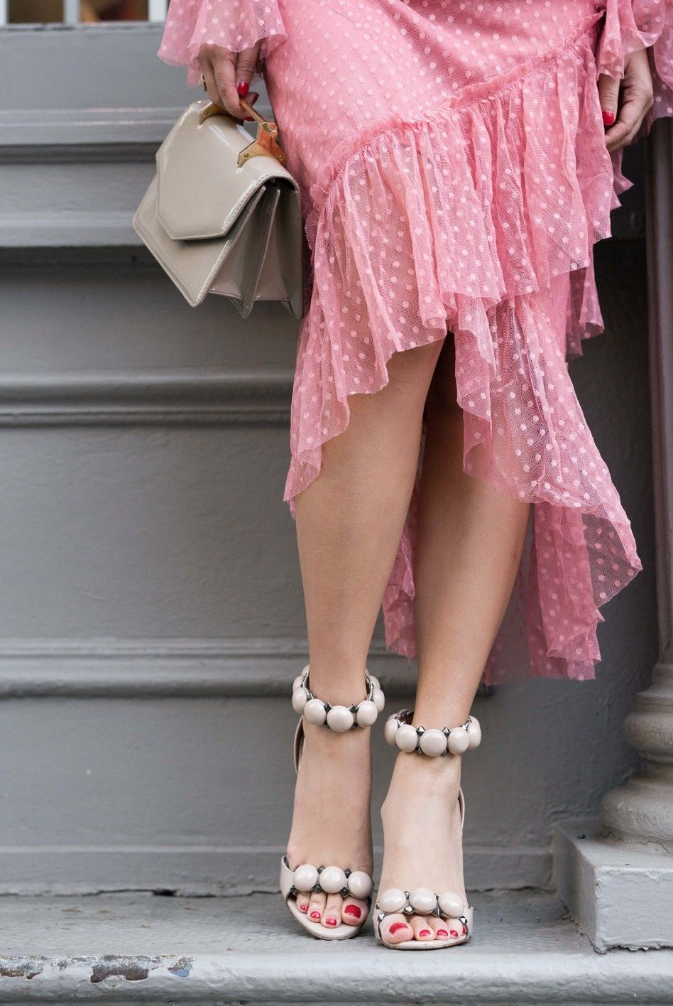 0b01e64502bf Shades of Blush    Pink dress   Nude sandals - Wendy s LookbookWendy s  Lookbook