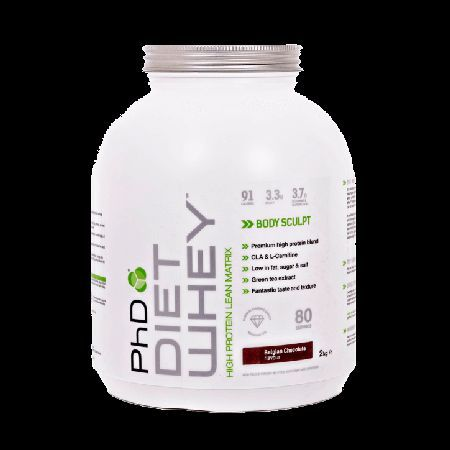 PhD Diet Whey Powder Belgian Chocolate 2000g, One of the industry-leading diet  slimming formulas for weight control Mix with water, milk, yoghurt  more 17g protein and only 91 calories per 25g serving when mixed with water With CLA, L-Carnitin http://www.MightGet.com/march-2017-1/phd-diet-whey-powder-belgian-chocolate-2000g-.asp