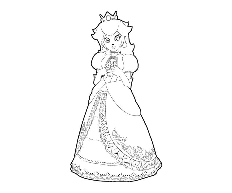 Princess Peach Coloring Pages Google Search Coloring