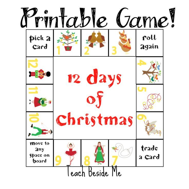 12 Days of Christmas Printable Game | Gaming, Activities and Kid ...