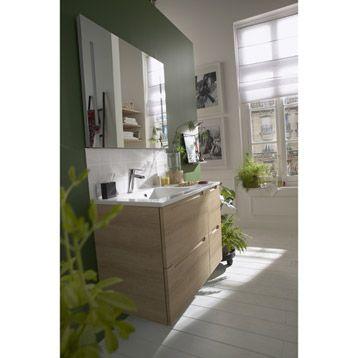 Meuble de salle de bains Néo, marron Project ideas - Residence - leroy merlin meuble salle de bain neo