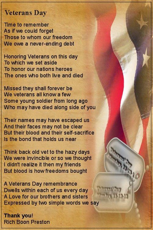 Veterans Day, every day..........Rich \'Boon\' Preston   Service ...