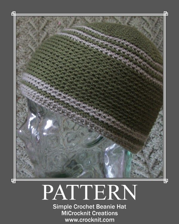 e5763d622a6 Crochet Hat Beanie Pattern - I made this for my husband in a few hours with merino  wool yarn. It looks great and it was very easy to follow the pattern.