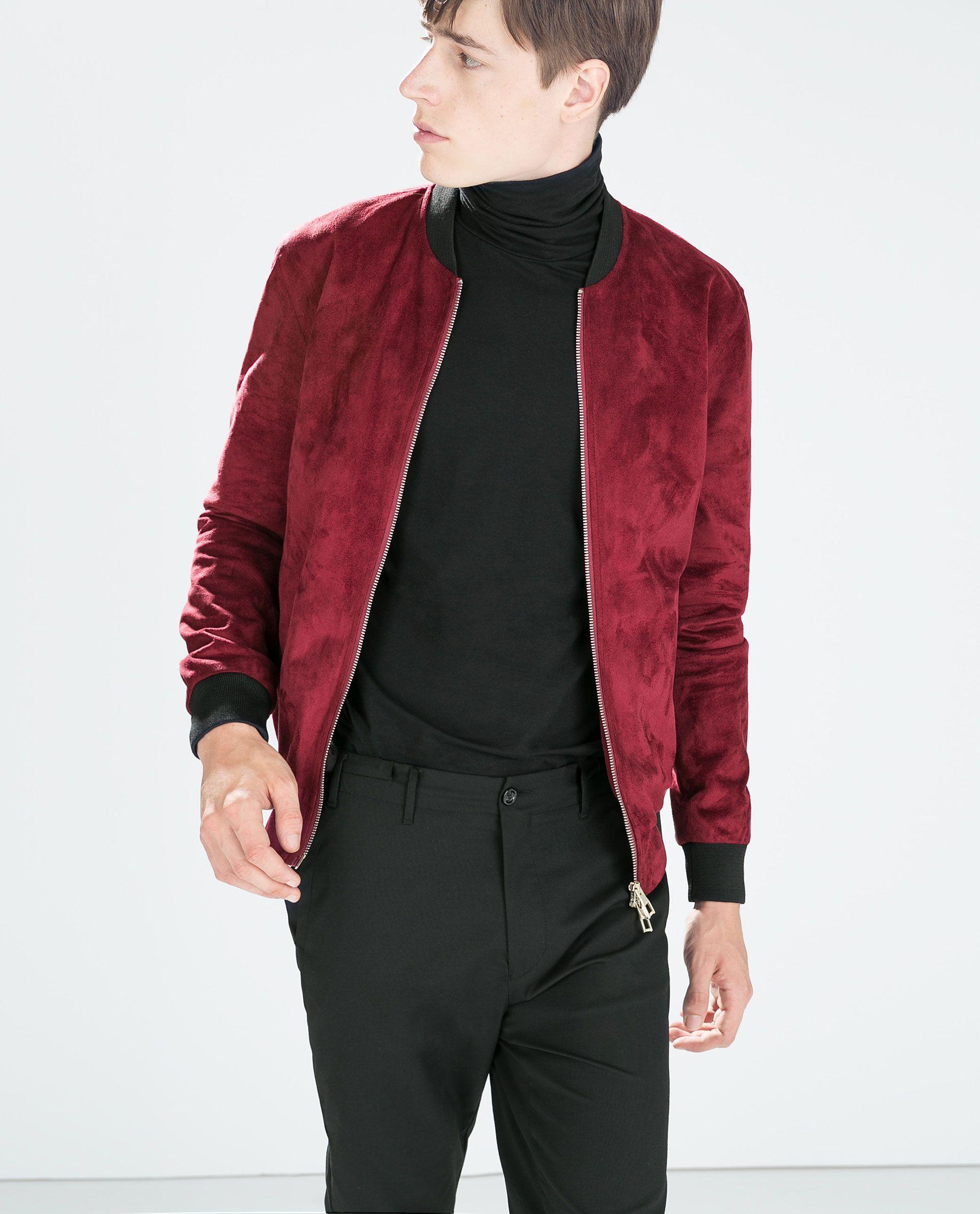 Faux Suede Jacket Casual Jackets Man Zara Singapore Modelos
