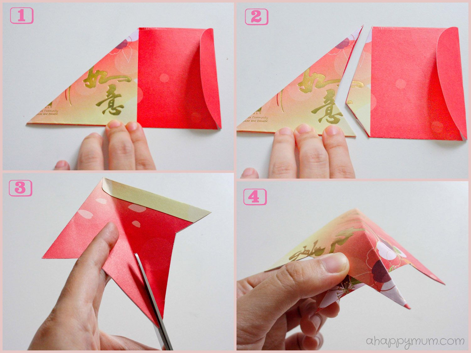 Chinese new year crafts google search chinese new year for Ang pao origami