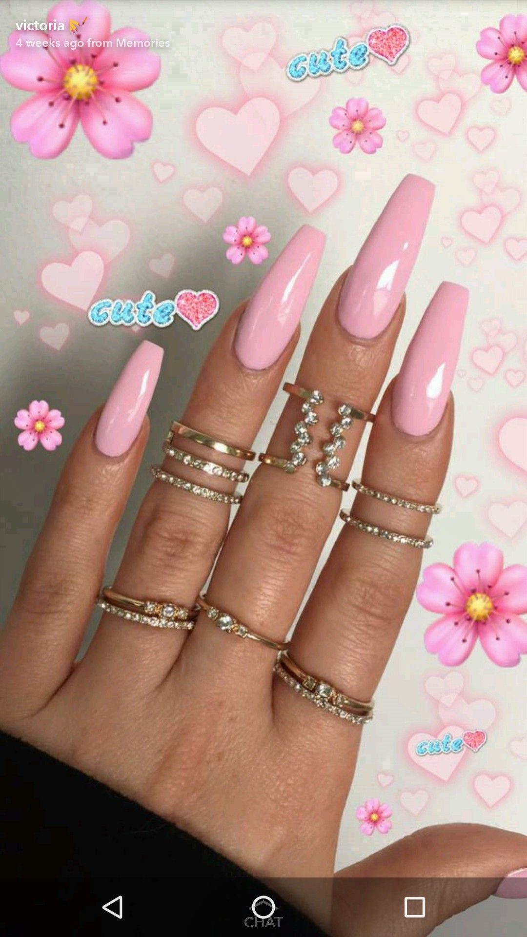 Beautiful Pretty Pink Long Nails Acrylic Nails Coffin Pink Pink Nails Winter Nails Acrylic