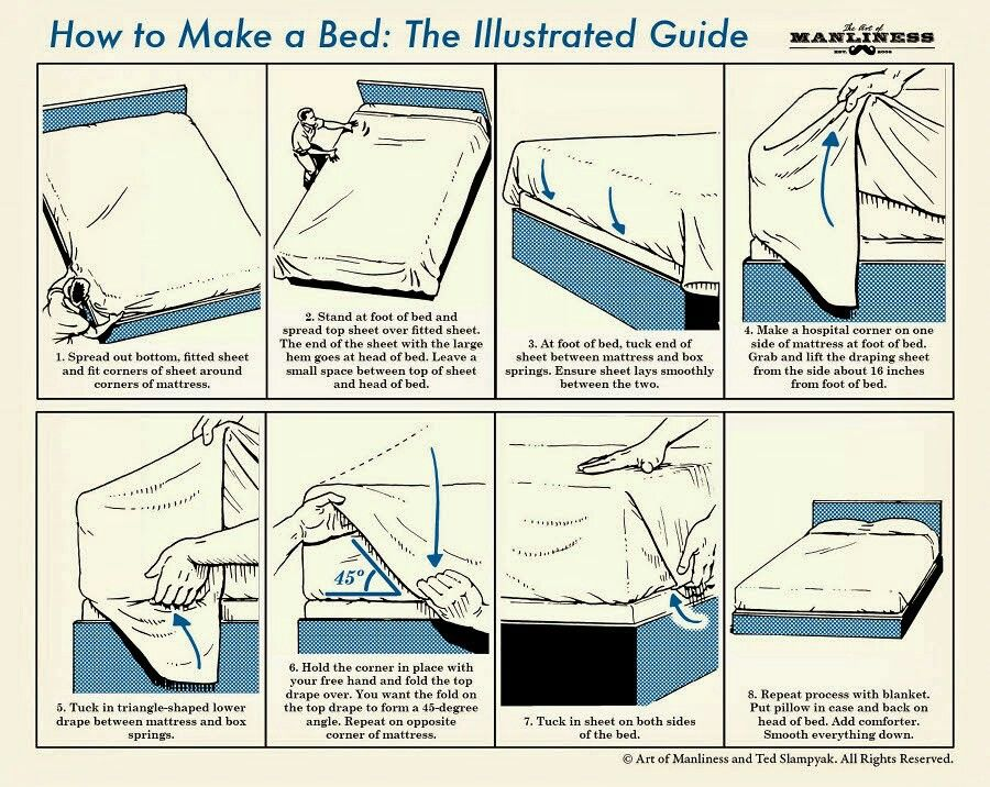 Bed making | How to make bed, Hospital corners, Make your bed