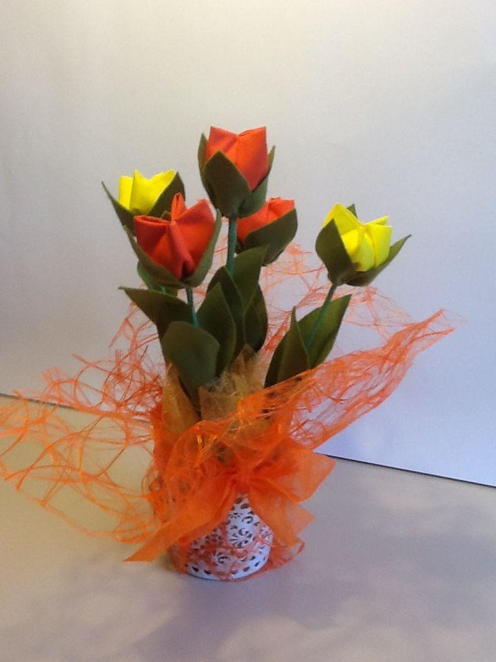 Tulipani  in Stoffa  Salvato da Maria D'Eugenio