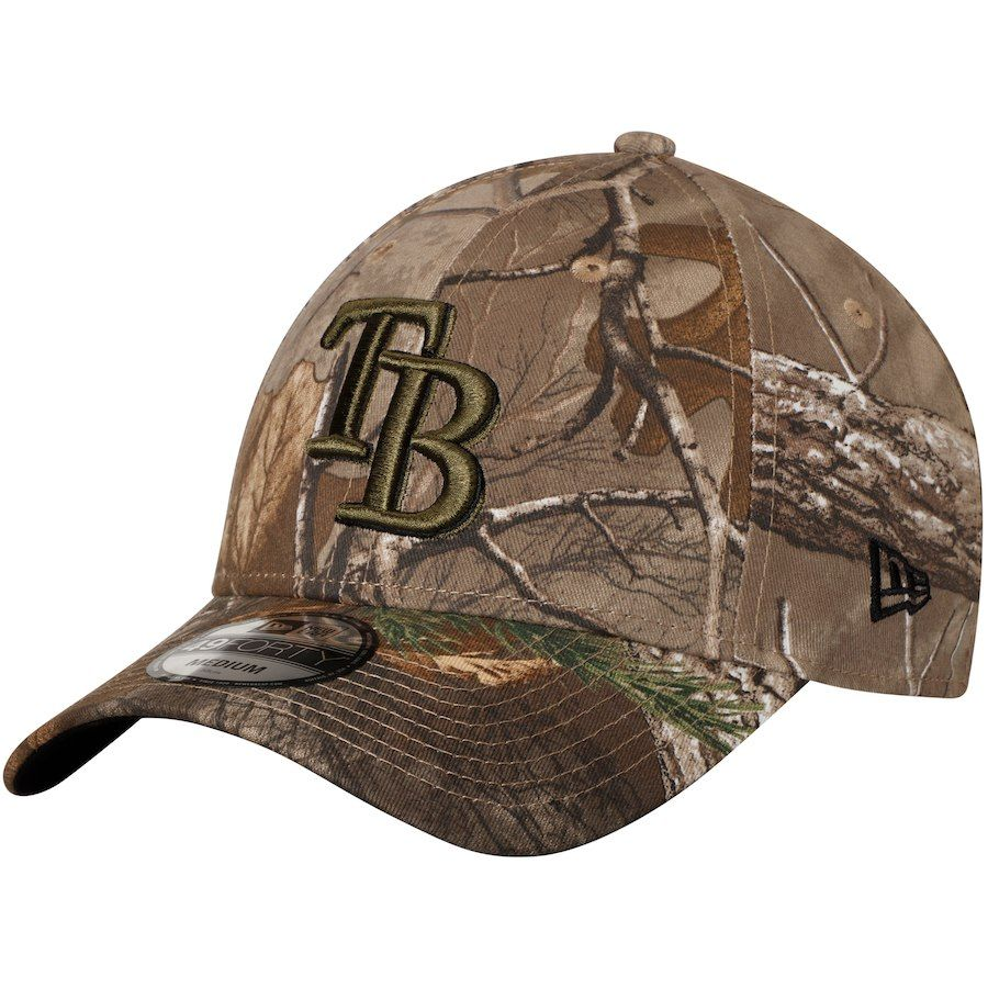 5b1c9d649fe Men s Tampa Bay Rays New Era Camo Realtree 49FORTY Fitted Hat