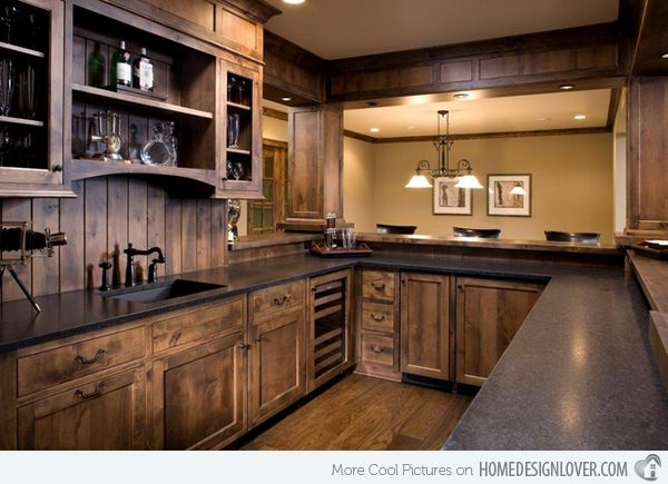 15 interesting rustic kitchen designs rustic kitchen for Western kitchen cabinets