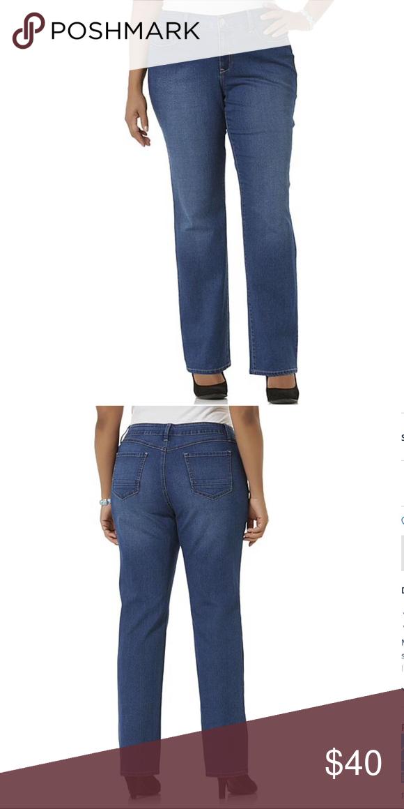2fcc40dfa64a9 Simply Emma Jeans Simply Emma Women s Plus Jeans. Lightweight stretch  denim. Body Fabric  2% Spandex
