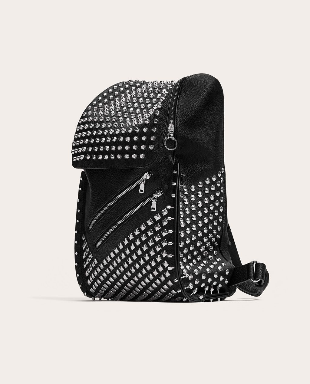 BLACK STUDDED BACKPACK - SHOES AND ACCESSORIES-SALE-MAN