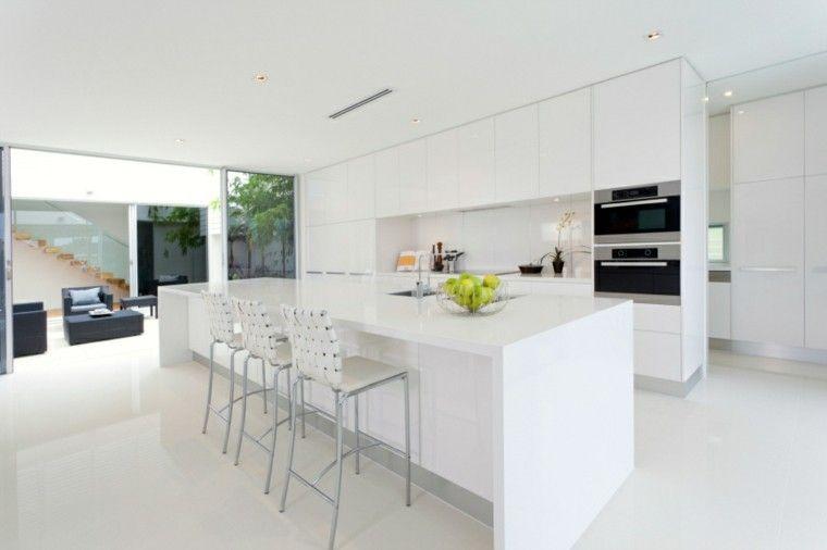 Cocinas modernas con isla: 100 ideas impresionantes | Moderno ...