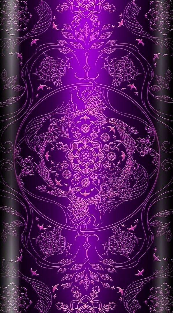 Black & Purple Wallpaper... By Artist Unknown... in 2019 ...