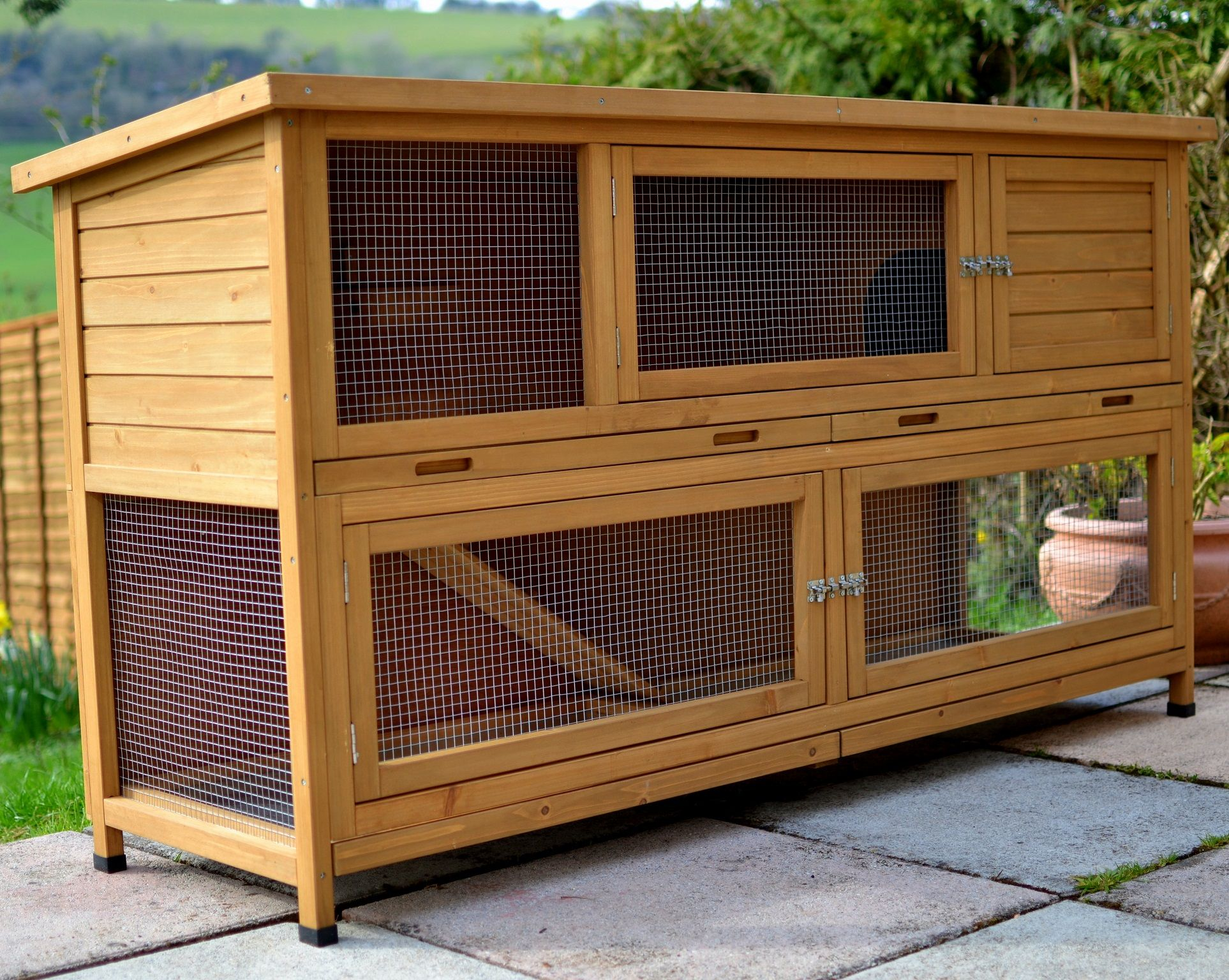 wooden pin hutch rabbit rabbits story diy for sale homemade three hutches handmade multiple