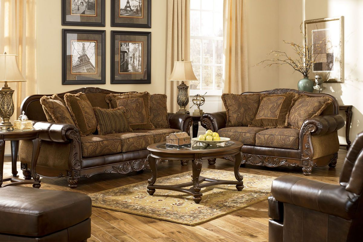 Merveilleux Fresco DuraBlend Antique Living Room Set By Ashley Furniture   63100   Living  Room Furniture,
